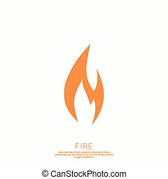 fogo, flames., icon.