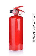 fogo, fundo, isolado, branca, extintor