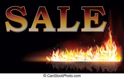 fogo, fundo, venda, vetorial