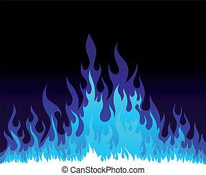 fogo, fundo