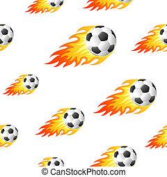 fogo, futebol, fundo