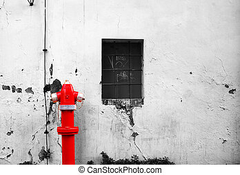 fogo, hydrant., rua