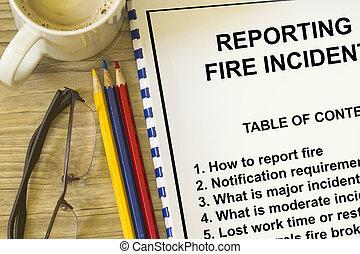 fogo, incidente, elaboração do relatório