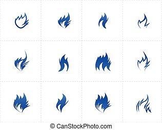 fogo, jogo, gás, ícone