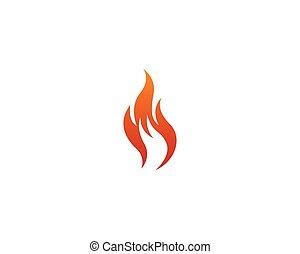 fogo, logotipo, vetorial, ícone
