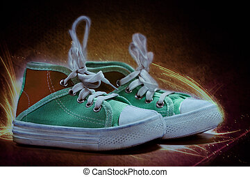 fogo, lona, sapatos