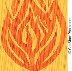 fogo, madeira, silueta