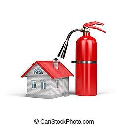 fogo, propriedade, seguro, contra