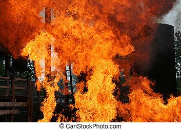 fogo, sabotagem
