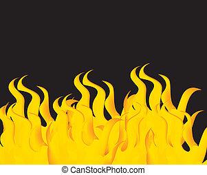 fogo, vetorial