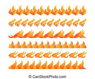 fogo, vetorial, projeto fixo, elementos