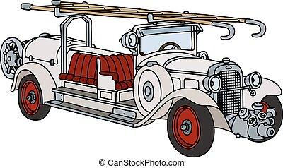 fogo, vindima, caminhão