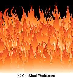 fogo, wallpaper., chamas
