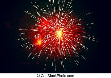 fogos artifício, celebrar, festival