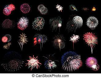 fogos artifício, extravaganza