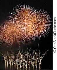 fogos artifício, festival