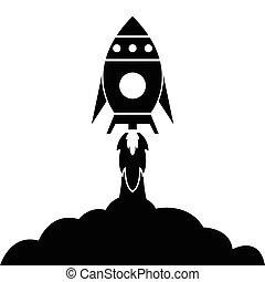 foguete, ícone