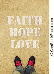 foi, amour, espoir