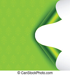 Foil Curled Corners - Green foiled backed curled corners. ...