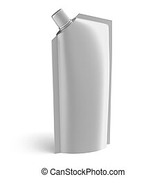 Foil food bag with dispenser isolated on a white background