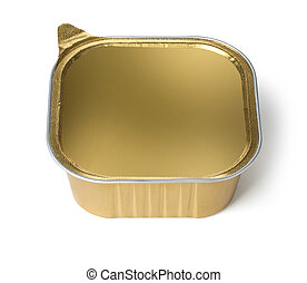 Foil Food Container  with Blank gold lid
