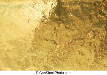 Golden foil, abstract background texture