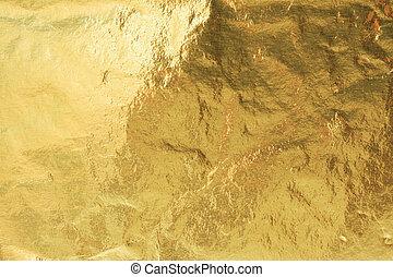 Foil - Golden foil, abstract background texture