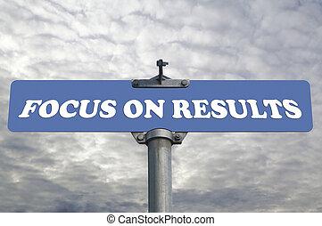 fokus, auf, ergebnisse, straße zeichen