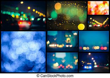 Fokus, Lichter, straße, heraus