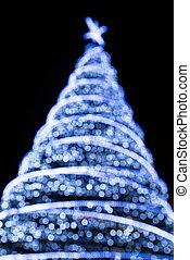 fokus, weihnachtsbaum