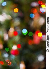 fokus, weihnachtsbeleuchtung