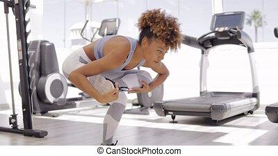 folâtre, position, girl, yoga