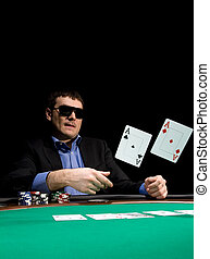 Fold in poker with two aces