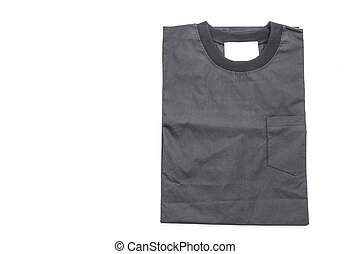 fold shirt on white background