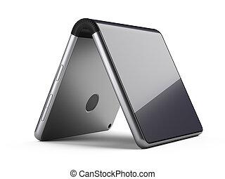foldable, smartphone, card., forma, -, vuoto, flessibile