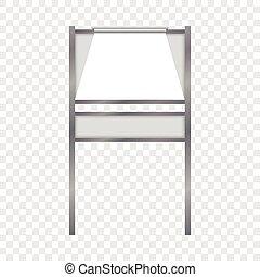 foldable, stile, mockup, realistico, asse, pubblicità