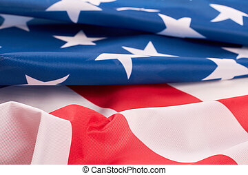 Folded American flag close up.