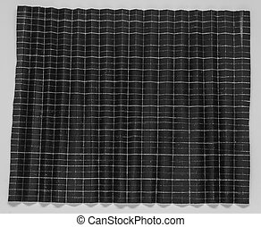 Folded black paper in 1024 parts with white background