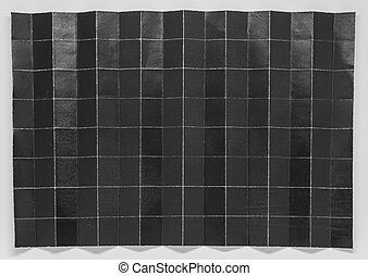 Folded black paper in 128 parts with white background 2