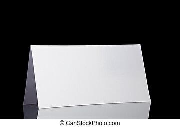 folded card note leaflet