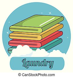 folded clothes laundry service