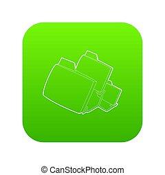 Folded database icon green