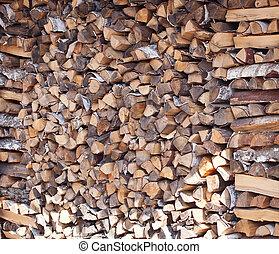 Folded firewood