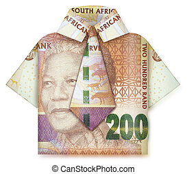 Folded money business man
