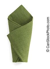 folded napkin on white - folded napkin isolated on white...