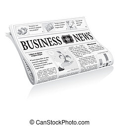 Newspaper Business News - Folded Newspaper Business News...