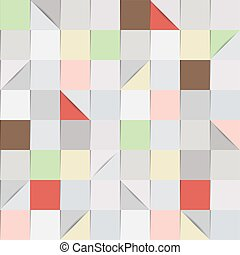 Folded paper background in shades of grey and pastel colours