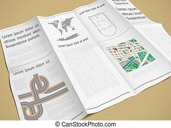 Folded paper booklet