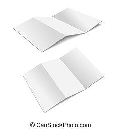 Folded Paper.  Illustration on white background for design.
