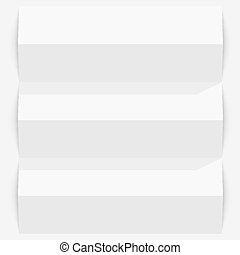 Folded paper on a white background